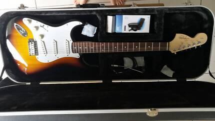 Left Handed Fender Strat Squier Affinity Sunburst