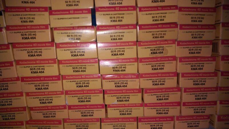 Kodak Super 8 Kodachrome K40 Movie Film 100 To Sell Refrig/Exp/Price Per Box