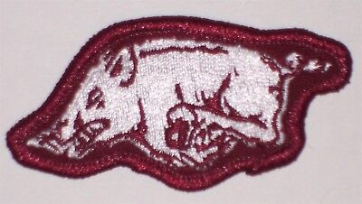 Arkansas Razorback Game (Arkansas Razorbacks GAME ISSUE Embroidered HOG patch High Quality American)