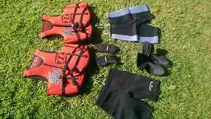 Life jackets, wetsuit shorts ,gloves, boots Flinders Park Charles Sturt Area Preview
