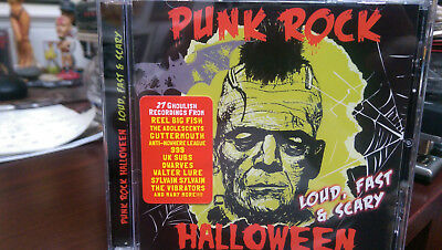 PUNK ROCK HALLOWEEN  Loud Fast & Scary CD 999 Subs Adolescents Dwarves - Scary Halloween Rock Music