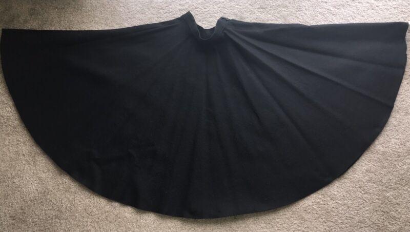 Vintage 1950s Black Wool Felt Circle Skirt