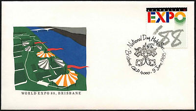 Australia 1988 Expo, National Day Holy See Cover #C44063