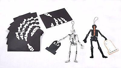 8 pcs halloween party skeleton invitation card hanging decoration (Skeleton Halloween Party Invitations)