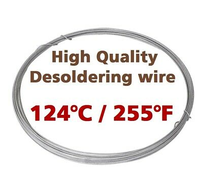 Low Melting Point 124c255f Soldering Wire 1mm 1m3.3ft Without Flux By Chemet