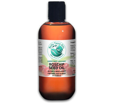 Rosehip Seed Oil 8 oz 100% Pure Cold-pressed Unrefined Organ