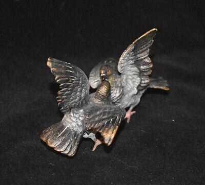 Vienna Bronze Pigeon Bird Figurines