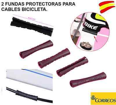2 FUNDAS PROTECTORAS ROZADURAS CABLES BICICLETA COLOR NEGRO