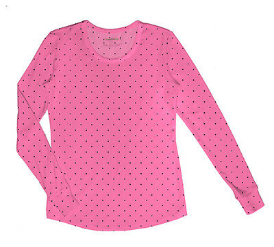Dot Scrubs (Let's Polka Dot HeartSoul Scrubs Knit Underscrubs Long Sleeve Tee 20801 LEPI)