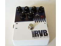 Tech 21 Boost RVB Analog Reverb Emulator - guitar pedal - with trails