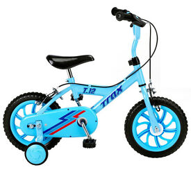 "Trax 12"" Kids Bicycle Blue"