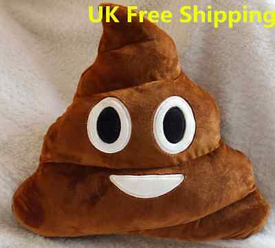 Poo Pillow Plush Soft Emoji Emoticon Stuffed Cushion Xmas Birthday Gift Fun HT