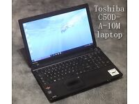 Toshiba C50D-A-10M laptop with bag REFURBISHED + 3MONTHS WARRANTY