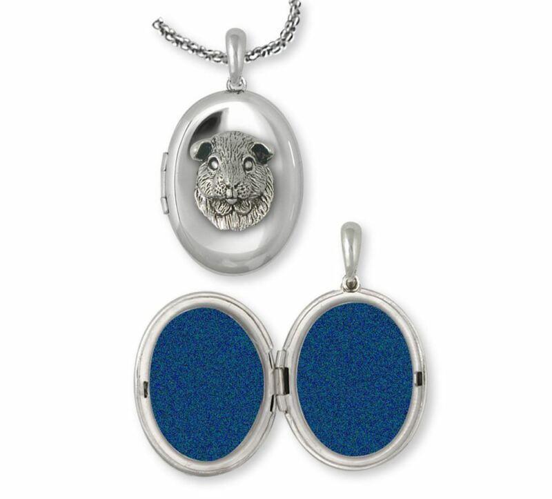 Guinea Pig Photo Locket Jewelry Sterling Silver Handmade Piggie Photo Locket GP2