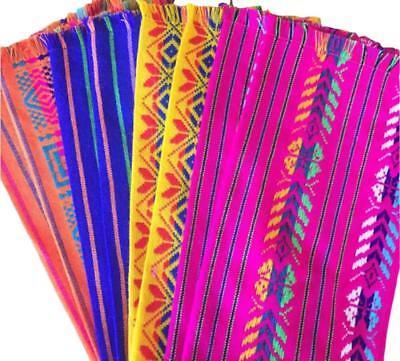Mexican Fabric napkins, Bulk Set of 6 tribal assorted colors (Bulk Fabric)
