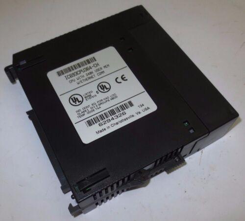 GE FANUC IC693CPU364-CH CPU MODULE w/ 240K USER MEMORY, w/ ETHERNET COMM w/ KEY