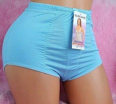 VTG Elegante sissy 6 Colors Nylon mesh high CUT Brief Girdle panties sz M