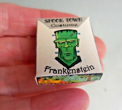 DOLLHOUSE MINIATURE ~ HALLOWEEN FRANKENSTEIN COSTUME BOX](Halloween Costumes Box)