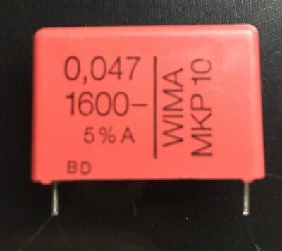 5 Wima Mkp10 0.047uf 0047f 47nf 1600v 5 Pitch27.5mm Capacitor