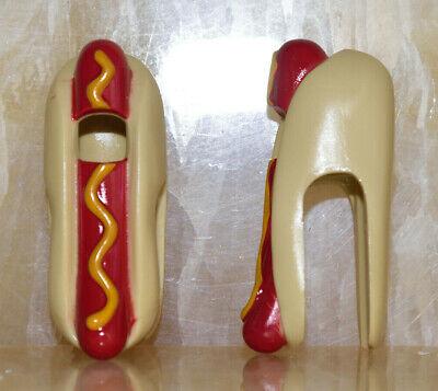LEGO  🌟 Lot 2 pcs 🌟 NEW Minifigure Costume Hot Dog Red Sausage Mustard Pattern