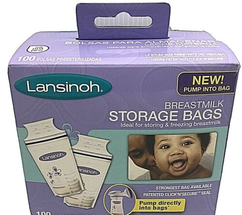 New Sealed Lansinoh Breastmilk Storage Bags 100 Count Free Shipping