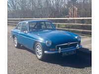 MGB GT Chrome Bumper In Teal Blue 1971 - Tax Exempt