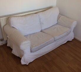 TWO IKEA EKTORP SOFAS - FREE - COLLECT THIS WEEKEND SE11