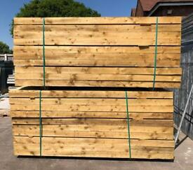 🌳 New Wooden/ Timber Pressure Treated Posts ~ 2.4M