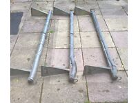 Set of 3 Strong Galvanised Transit Van Roof Bars