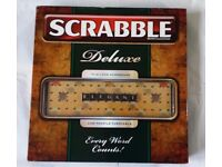 Scrabble Deluxe Turntable Board Complete Game by MATTEL- N7861