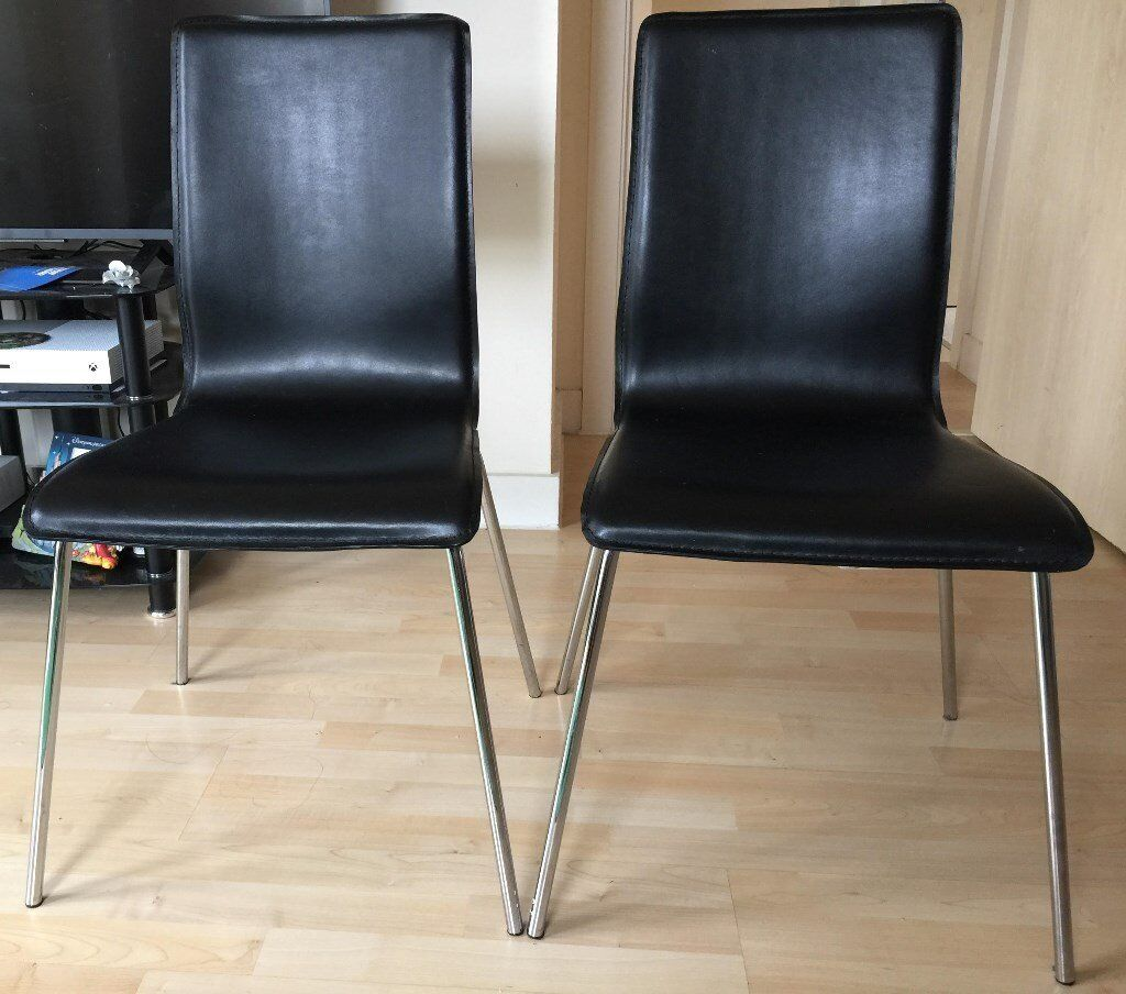 two Leather Chairs are available (Good Condition) - 5 Pounds each