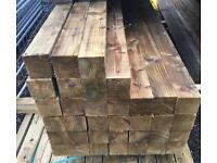 """🌲Tanalised Wooden/ Timber Posts •New• 4""""X 4""""X 1.5M/2.4M/3M"""