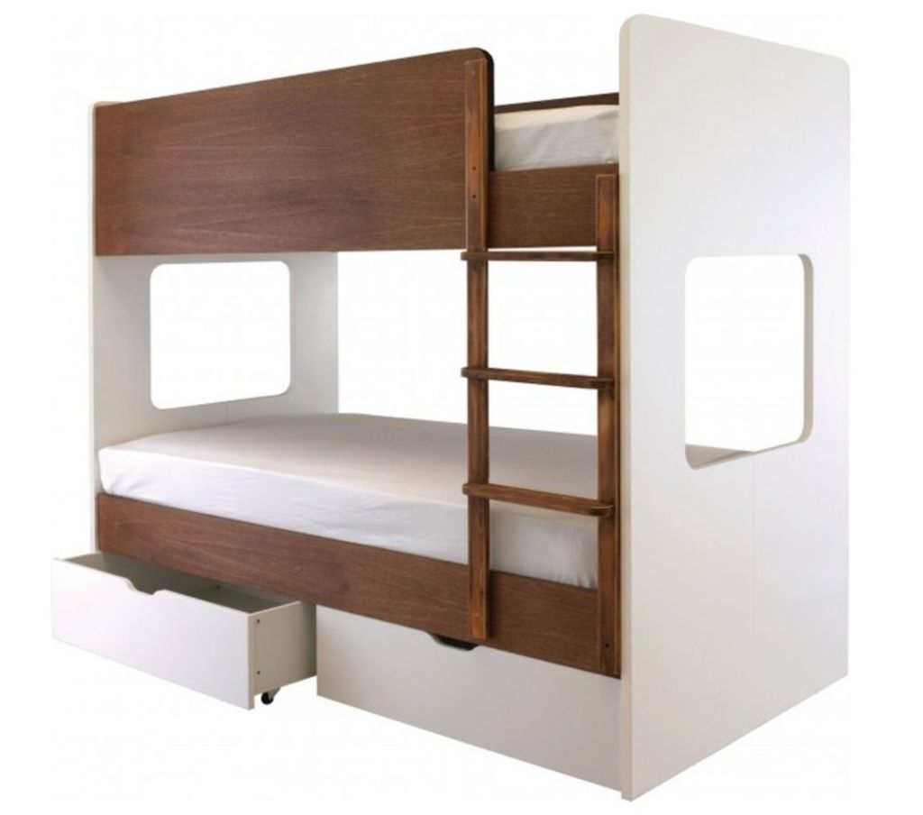 Aspace coco bunk bed in chocolate and white in raynes for Gumtree bunk beds