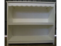 White wooden bookcase/unit in excellent condition