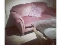 Velvet purple 2 seater next sofa