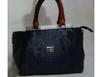 Used, Dolce & Gabanna D&G Bag Crocodile Handbag Bag Blue Red White for sale  Caerleon, Newport