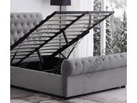 💫💫 FREE & FAST DELIVERY 💫💫DOUBLE OR KING SLEIGH STORAGE / WITHOUT STORAGE BED FRAME + MATTRESS