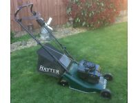 Hayter petrol engine lawn mower
