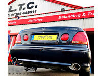 Lexus GS300 fitted with Proflow Exhausts Stainless Steel Mid / Rear and Dual Rear