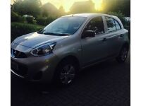 Silver Nissan Micra, Low mileage, only 2 owners