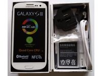 Samsung Galaxy S III GT-I9300 - 16GB - Unlocked SIM Free Marble White Pristine smartphon