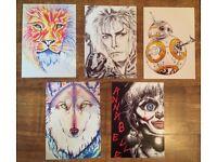 Prints of Original Art Work Available