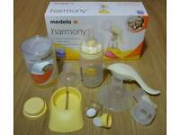 REDUCED! Medela manual breast pump and Calma teat