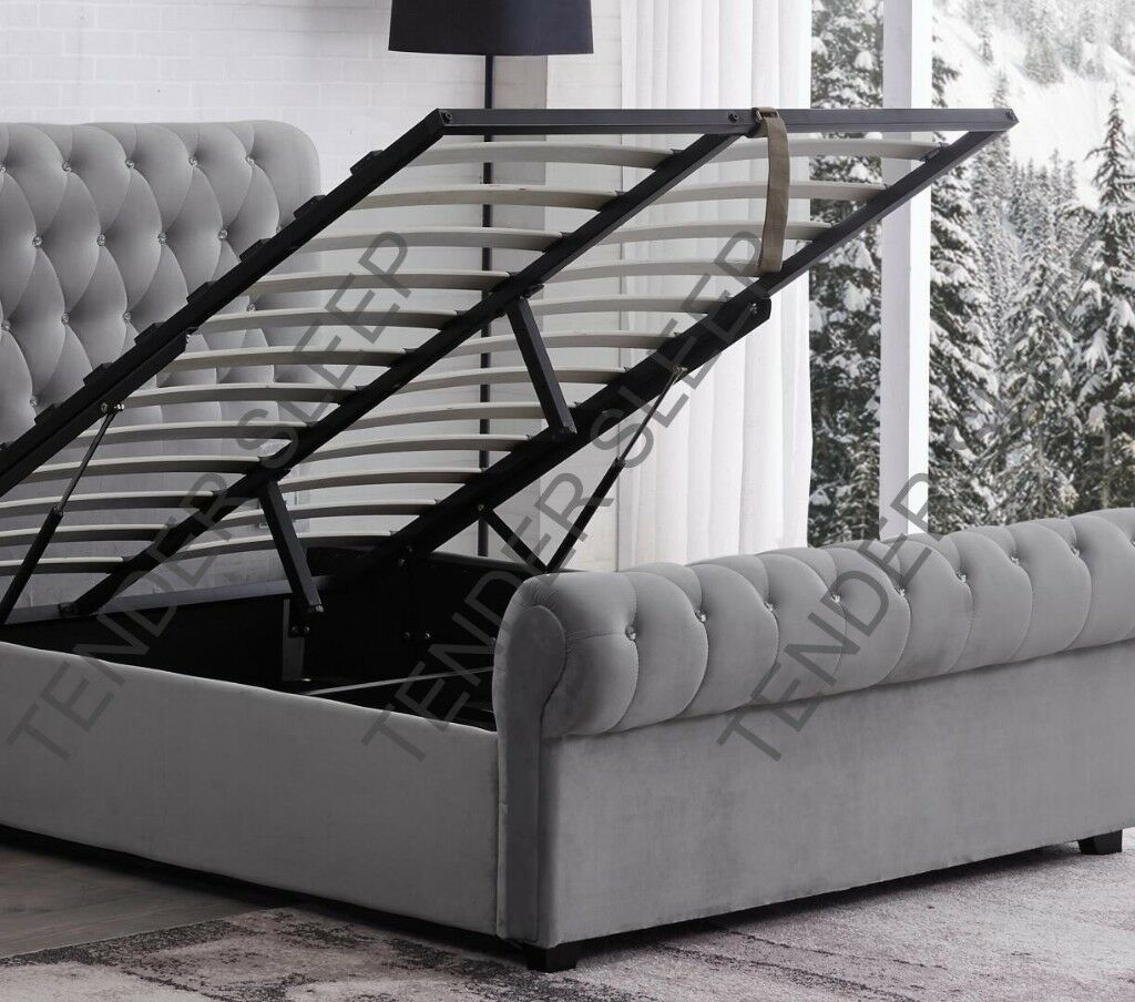 Astounding Brand New Sleigh Bed High Quality Velvet Double Bed King Size Bed Frame Storage Option Available In Enfield London Gumtree Pdpeps Interior Chair Design Pdpepsorg