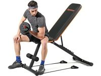 NEW Weight Bench, Apoesar Gym Bench Premium Bench Press Adjustable Foldable Fitness Workout Bench