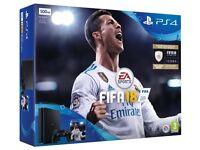 PLAYSTATION 4 SLIM 500GB LIKE NEW FIFA 18 & GHOST RECON - WARRANTY - £200