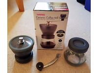 Hario Ceramic Coffee Grinder Mill Skerton In Excellent Condition