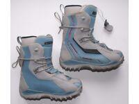 Salomon Vigil Snowboard Boots UK Size 7.5 Blue/Grey Womens