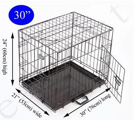 """Brand new (never been used) Dog / Puppy pet trading crate - Folding / Black 30"""""""
