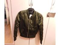 New H&M bomber jacket, size 8, with tags